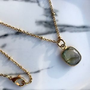 Jewelry - Labradorite Stone Necklace on Gold Plated Chain